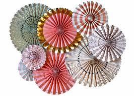 party fans party fans rosette pinwheels with gold foil mme 8 fans