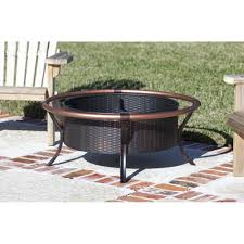 Fire Sense Hammer Tone Bronze Commercial Patio Heater by Rail Fire Pit