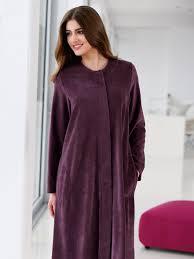 robes de chambre hahn la robe de chambre aubergine foncé