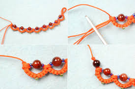 bracelet patterns free images Autumn jewelry project free orange beaded tatting bracelet jpg
