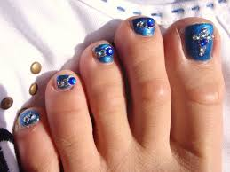 toe nail designs easy how you can do it at home pictures