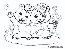 Couple de hamsters  coloriage Animaux gratuit sur Webjunior