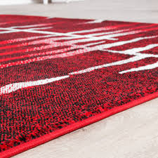 Wohnzimmer Design Rot Teppiche Modern Wohnzimmer Teppich Spezial Melierung Karo Muster