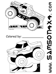 samson monster truck game activities kids children