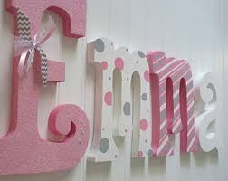 Nursery Wall Decor Letters Nursery Letters Etsy
