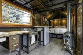 rustic industrial bathroom interior tiny house plans tiny tiny home on a trailer very cool interior color scheme and