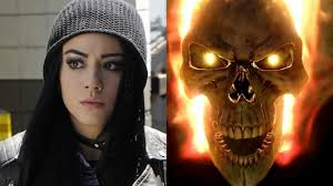 ghost rider mask costume chloe bennet talks introducing ghost rider in agents of