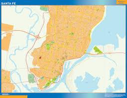 Santa Fe Map World Wall Maps Store Citymap Santa Fe Argentina Maps More Than
