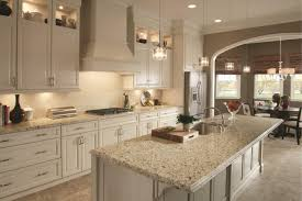 White Kitchens With Granite Countertops Kitchen U0026 Dining Alluring Crema Pearl Granite For Home Design