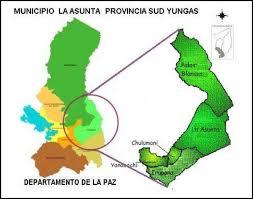 imagenes de sud yungas 2 ubicación del municipio de la asunta provincia sud yungas