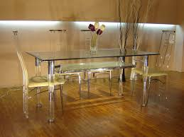 Clear Dining Room Table Acrylic Furnitures Style That Comes With Comfort