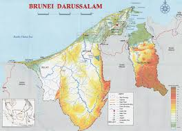 Physical Map Of Europe Rivers by Maps Of Brunei Detailed Map Of Brunei In English Tourist Map