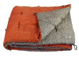 jete de canape en fil dindienne plaid velours jete lit tosca orange 160x160