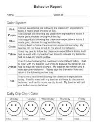 daily behavior report template the 25 best daily behavior report ideas on weekly