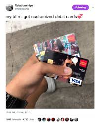 customized debit cards this had the best response when they found out their photos