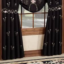 annabella rose floral black window treatment