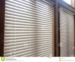 2 white wood window blinds stock photo image 51797731