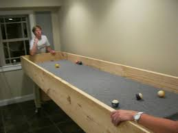 indoor carpet ball table log building a carpetball table