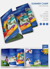 Tri Fold Program 10 Amazing Camp Brochure Templates Free U0026 Premium Templates