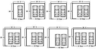 size of a three car garage car garage dimensions