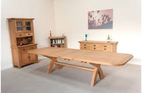 furniture extendable dining table seats chunky oak extending