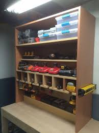 charging shelf station cordless drill storage and charging station diy projects for everyone