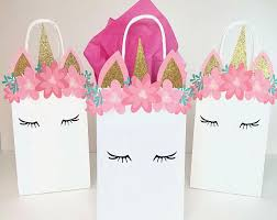 favor bags unicorn themed birthday party favor bags party favor bags for