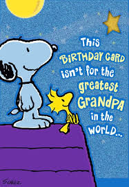 greatest snoopy and woodstock birthday card greeting
