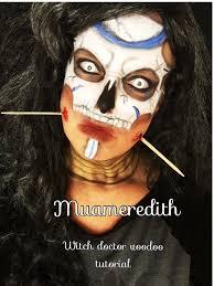 voodoo witch doctor makeup tutorial youtube