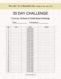 Challenge Steps 30 Day Challenge 10 000 Steps The Of A Beautiful