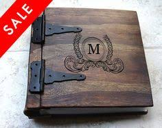 Leather Photo Albums Engraved Unique Wood Wedding Guest Book Monogrammed By Rusticengravings