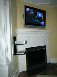 ct fireplace wires concealed tier shelf home wood mantel tv ideas