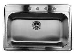 Single Bowl Kitchen Sink Top Mount Nantucket Stainless Steel Drop In Kitchen Sinks