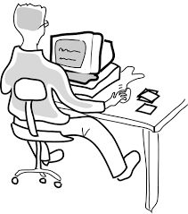 on computer rough sketch computer people on computers