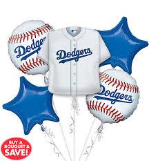 balloon arrangements los angeles los angeles dodgers balloon bouquet 5pc jersey party city canada