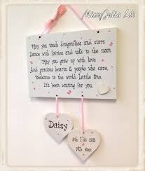 baby plaques new baby girl boy newborn christening wooden plaque gift w71