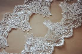 pearl lace white pearl beaded lace trim bead alencon lace trim ivory
