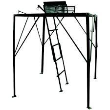 Hunting Ground Blinds On Sale Hunter U0027s Pointe Elevated Hunting Platform Quad Pod Walmart Com