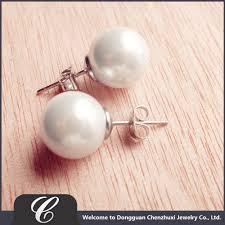 pearl earrings stud artificial design of pearl earrings white shape pearl