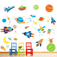 amazon com super space explorer decorative peel stick wall art amazon com super space explorer decorative peel stick wall art sticker decals baby
