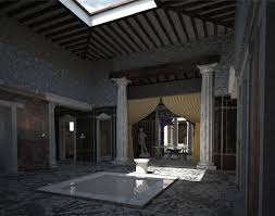 on white atrium domus roman ilustation project by
