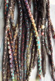 dreadlock accessories 10 custom standard clip in or braid in synthetic hair and