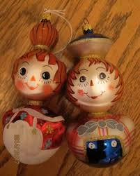 merry 1976 vintage flocked raggedy and andy