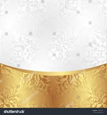 white gold background ornaments stock vector 138220211