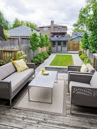 Small Narrow Backyard Ideas Small Garden Landscape Design Wooden Deck And Stylish Patio