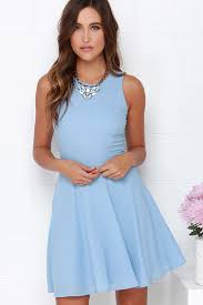 light blue dress light blue dress skater dress fit and flare dress 48 00