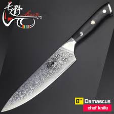 premium kitchen knives 8 inch damascus chef knife vg10 steel japanese high quality