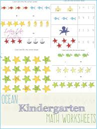 the sea kindergarten math worksheets