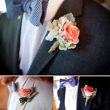 coral boutonniere coral boutonniere idea wedding ideas for