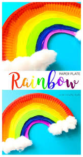 easy paper plate rainbow craft crafty kids rainbows and saints
